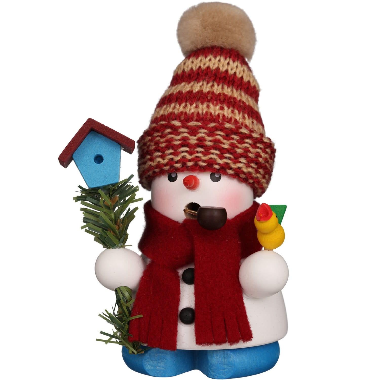 01-0654 Snowman Smoker with Birdhouse