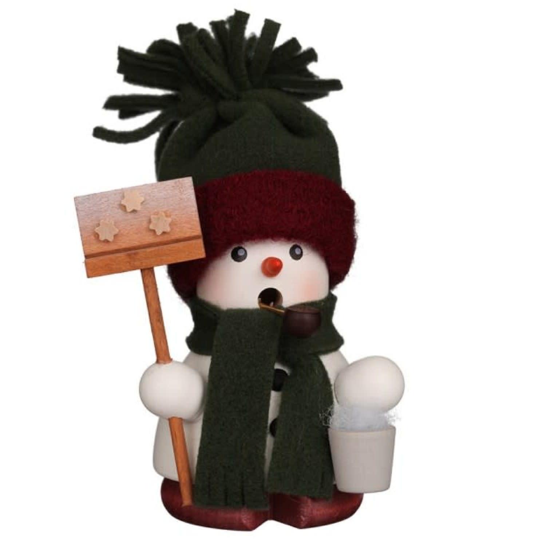 01-0675 Sm Snowman Green Smoker