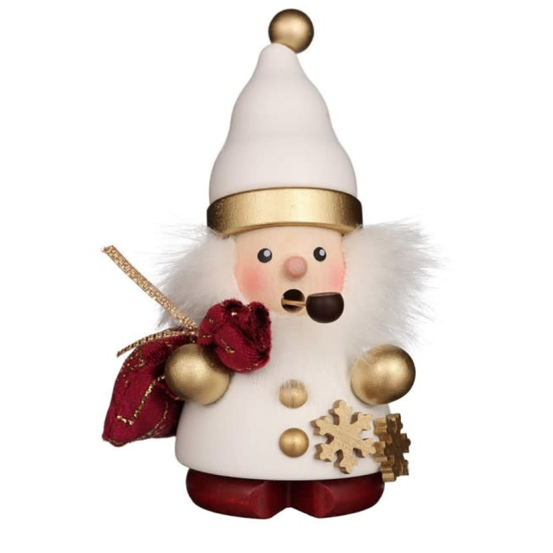 01-0678 Santa Claus White/Gold Smoker