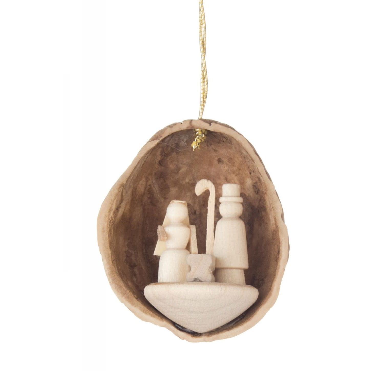 199/132 Walnut shell Ornament with the birth of Christ