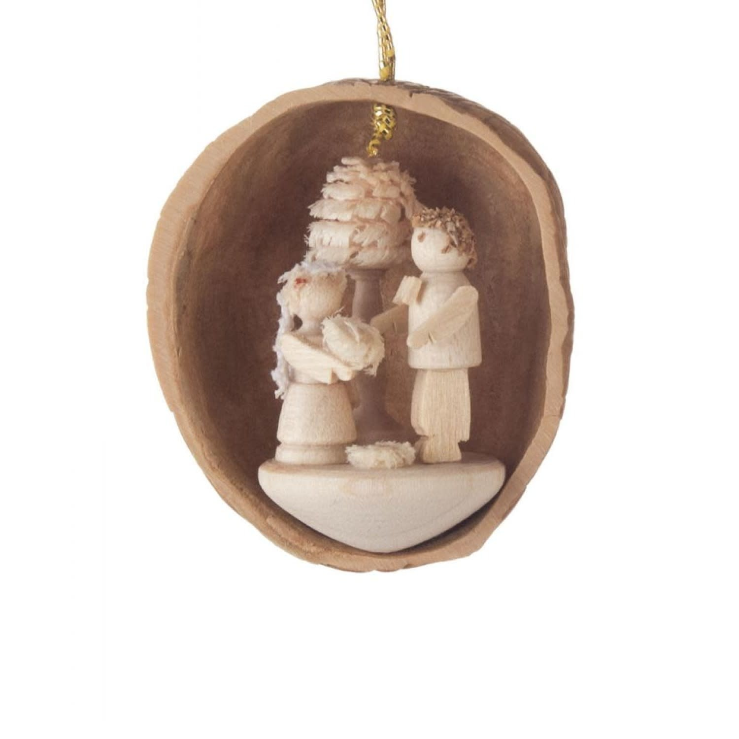 199/480  Walnut Ornament  with bridal couple