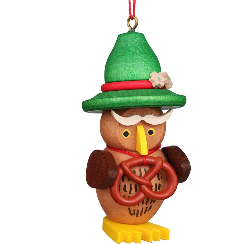 10-0610 Christian Ulbricht Ornament - Owl Bavarian