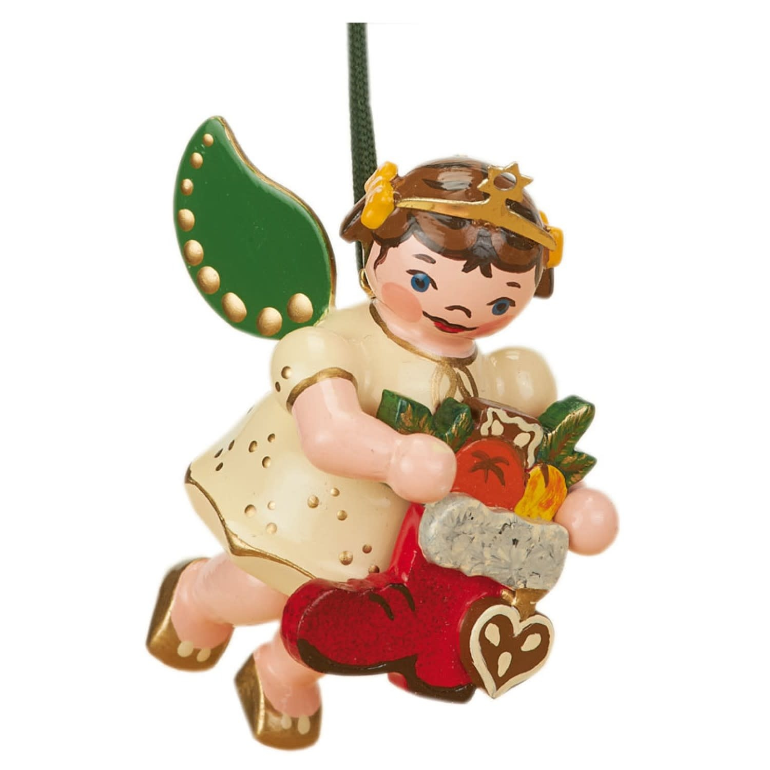 120h1006 Angel with Boots Ornament - 2.36 inches high