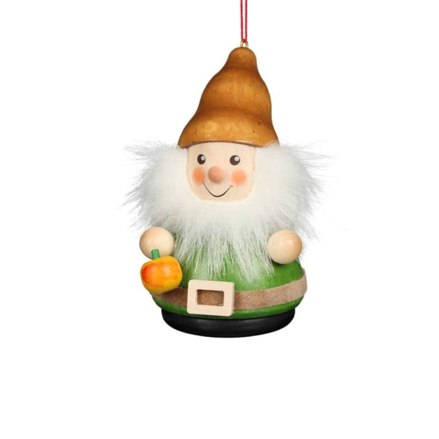 15 0427 Gnome With Apple Ornament
