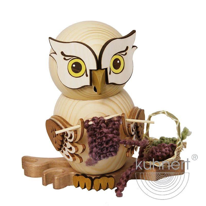 37211 Incense Smoker Owl - Knitting