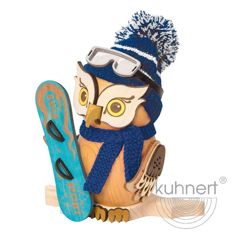 Kuhnert 37215 Incense Smoker Owl - with Snowboard