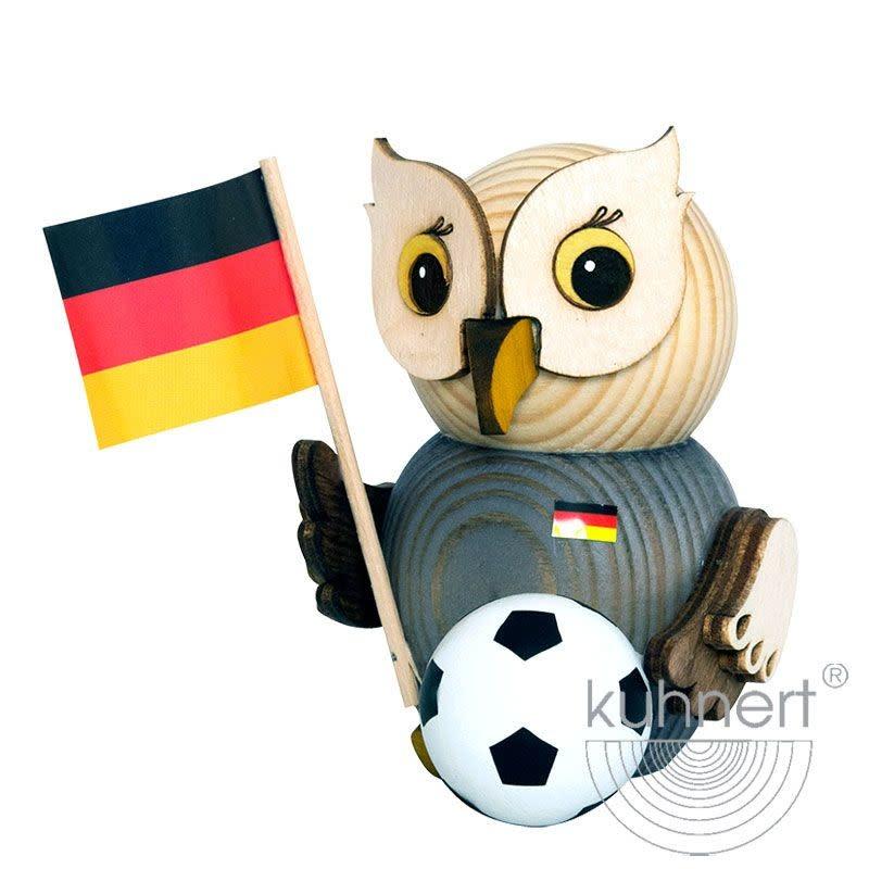 Kuhnert 37301 Mini Owl With Soccer Ball Figurine