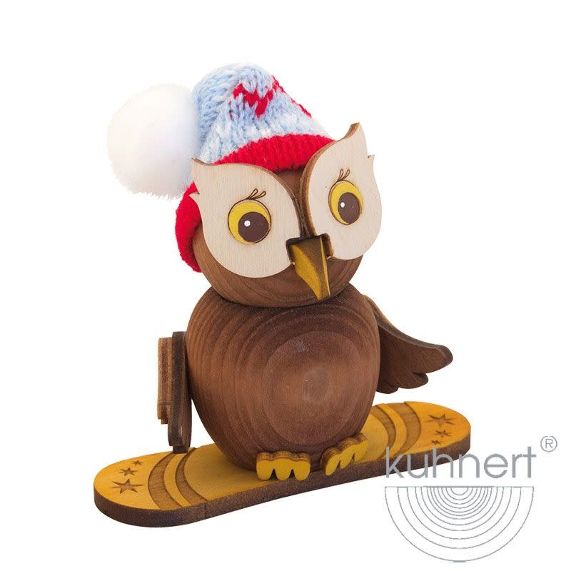 37313 Mini Owl Snowboard Figurine