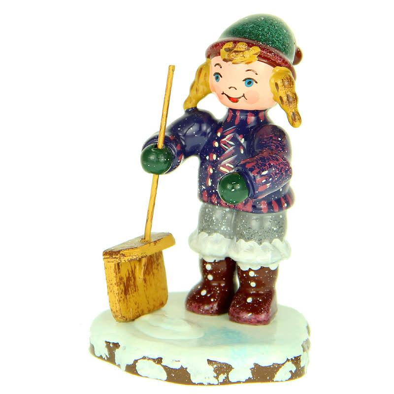 110h1007 Winter Children - Girl Shoveling Snow