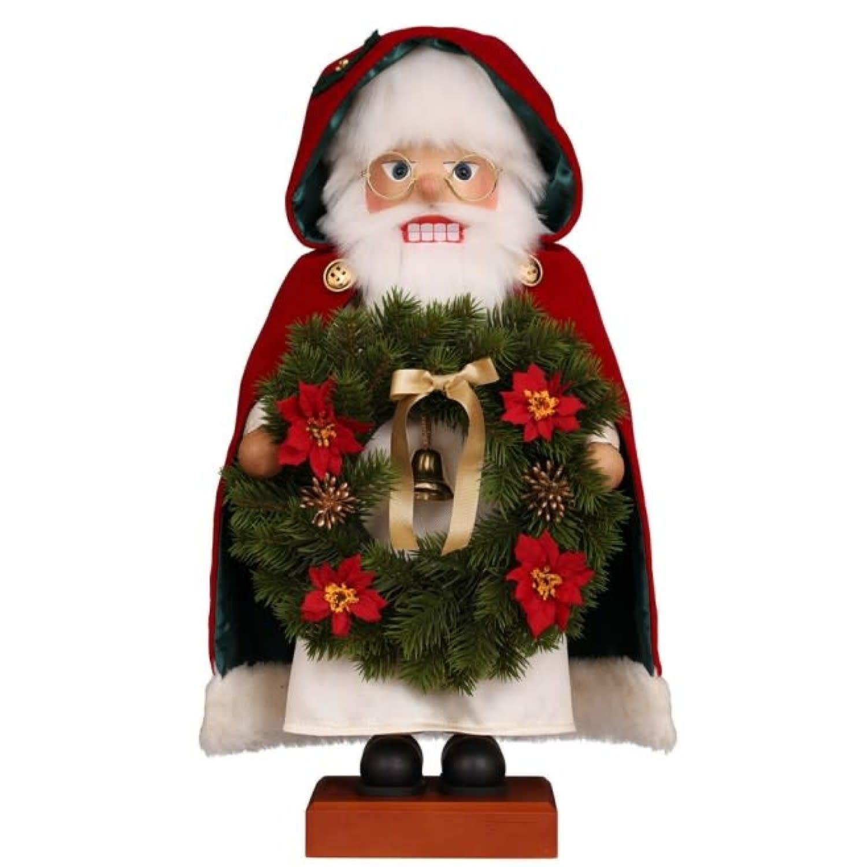 00-0832  Ulbricht Nutcracker - Santa with Wreath