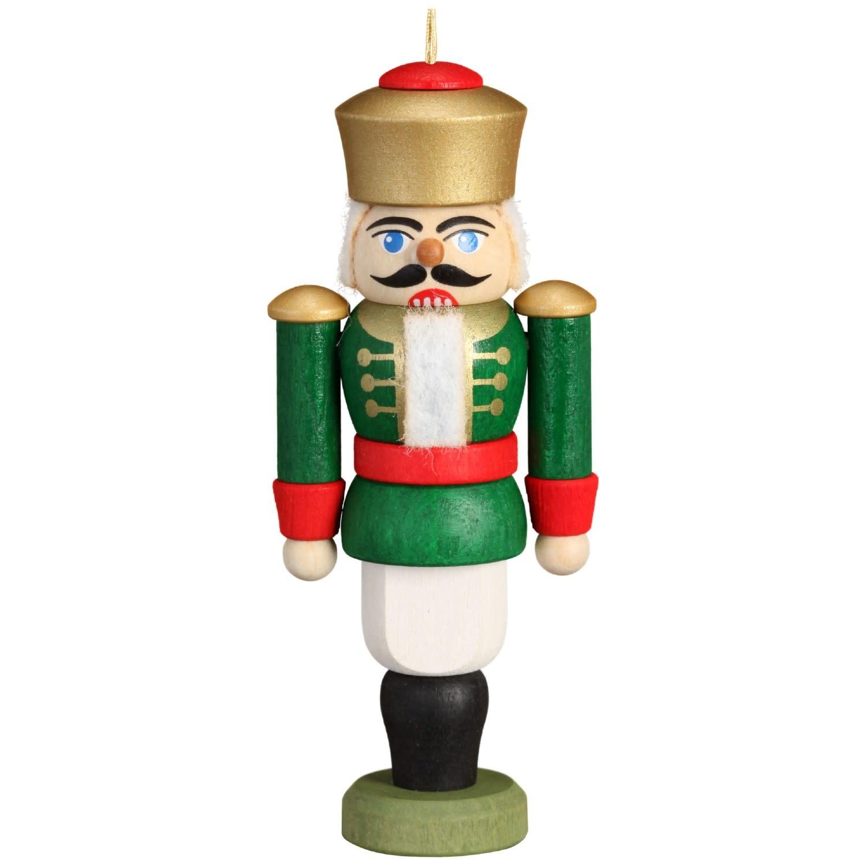 11611/4 Green King Nutcracker Ornament