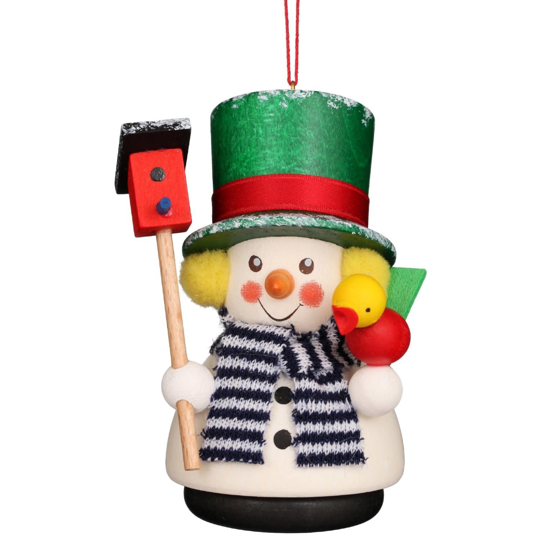 15-0433  Ornament - Snowman With Bird House (Wobble)