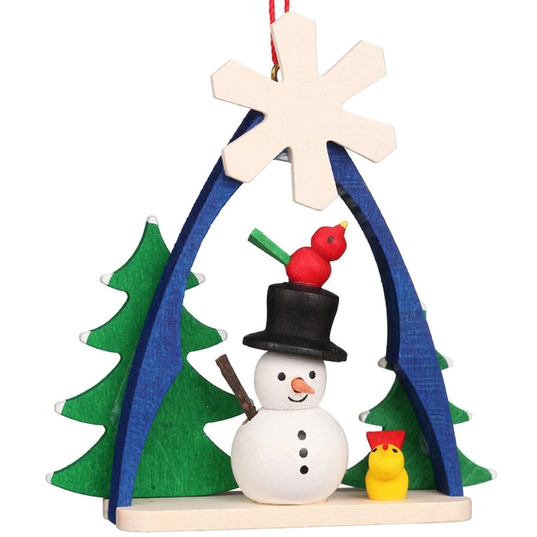 10-0863 Ulbricht Ornament - Snowman in Arch