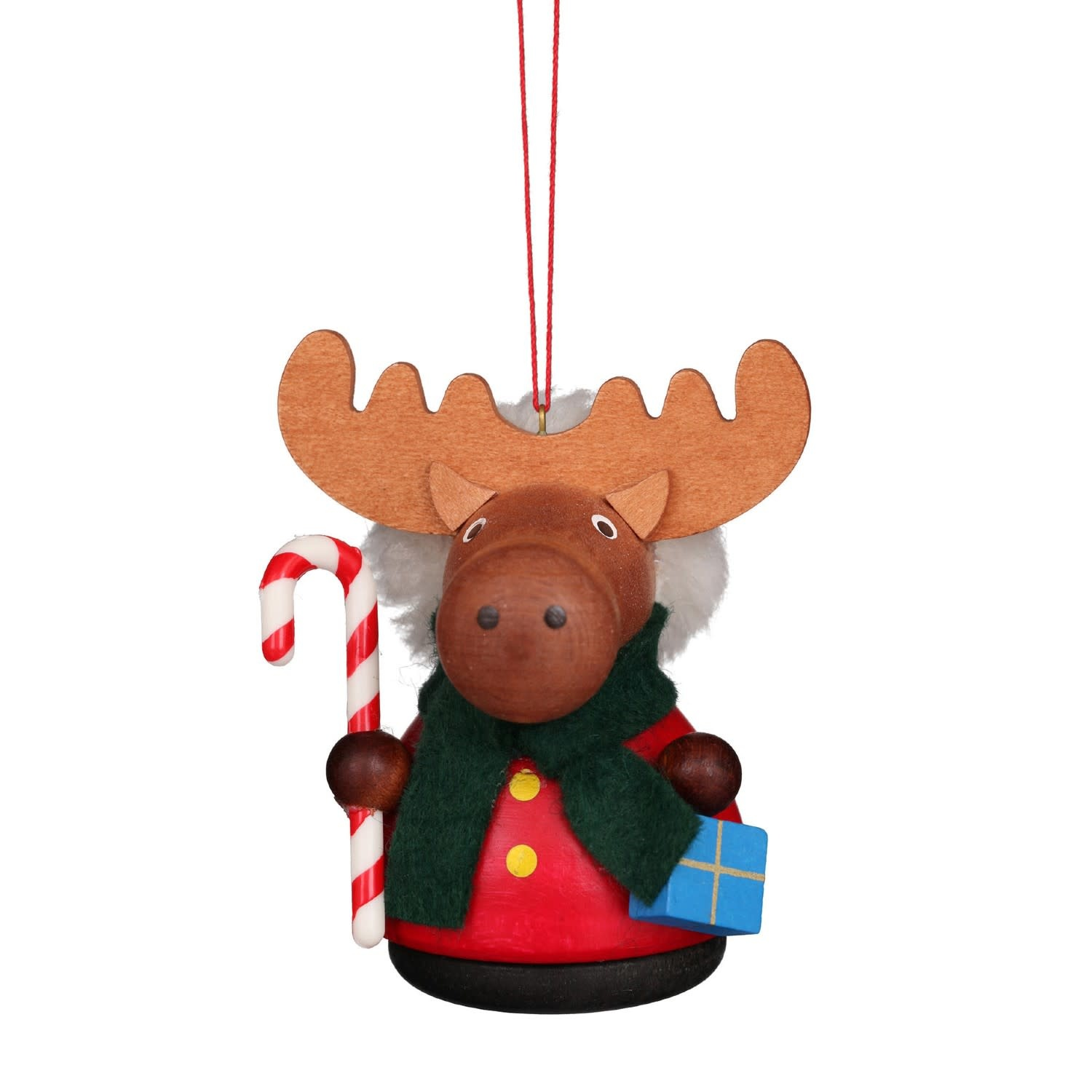 15-0432 Moose with Candycane Ornament (Wobble)