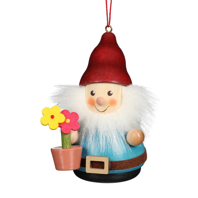 15-0431 Ulbricht Ornament-Gnome With Flowerpot (Wobble)