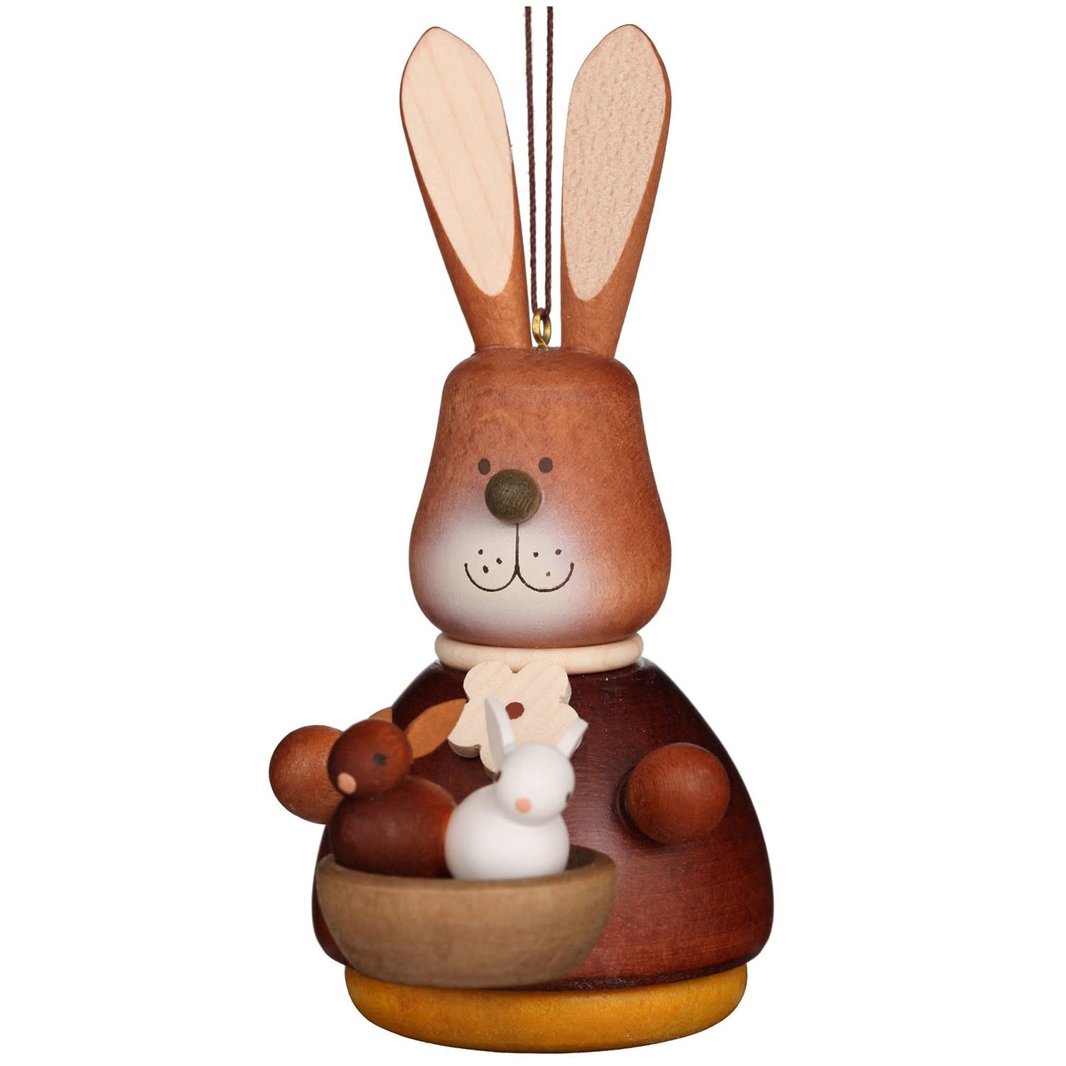 15-0210  Ulbricht Ornament-Bunny with Baby Ornament (Wobble)