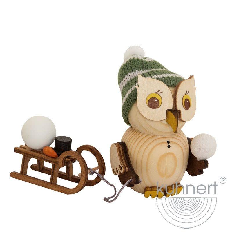 Kuhnert 37323 Mini  Owl Sleigh Figurine