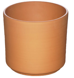 Terra Cotta Pot - Red Clay Buff Cylinder