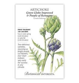 Seeds - Artichoke - Green Globe + Purple of Romagna