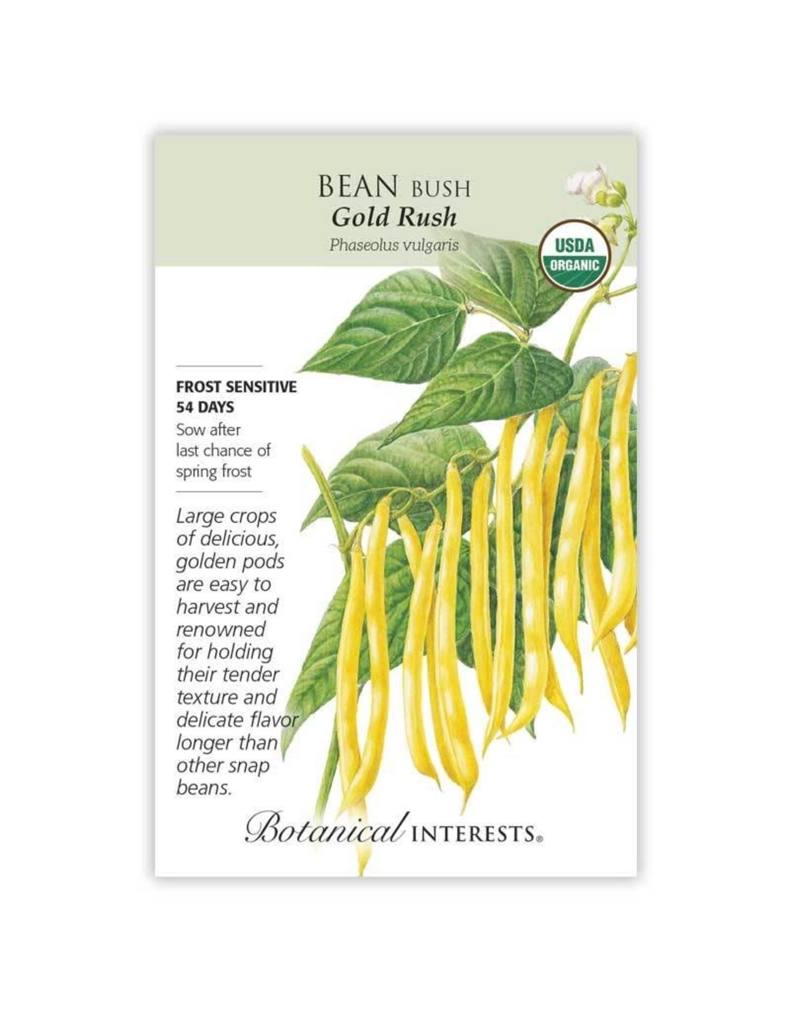 Seeds - Bean Bush Gold Rush Organic