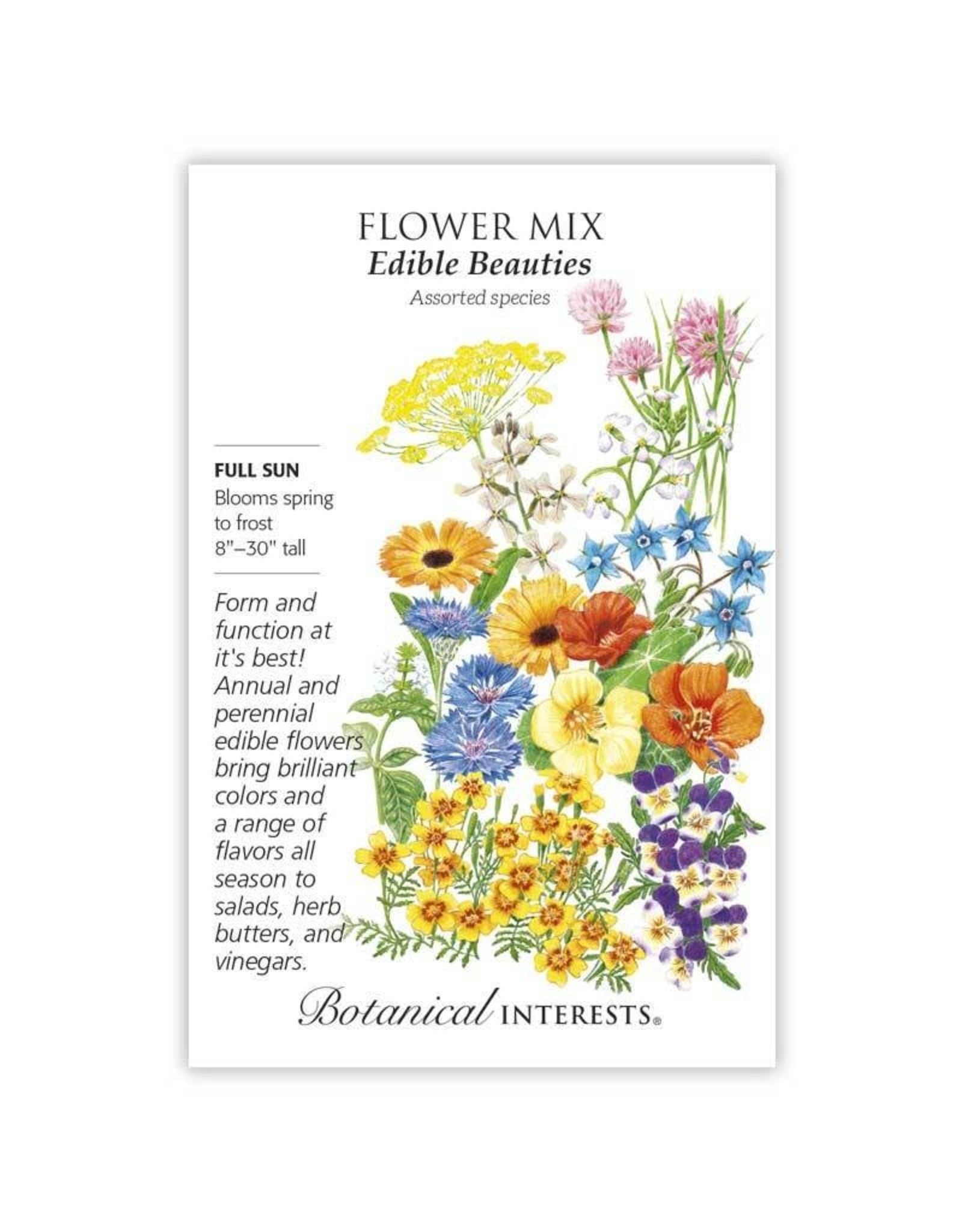 Seeds - Flower Mix Edible Beauties, Large