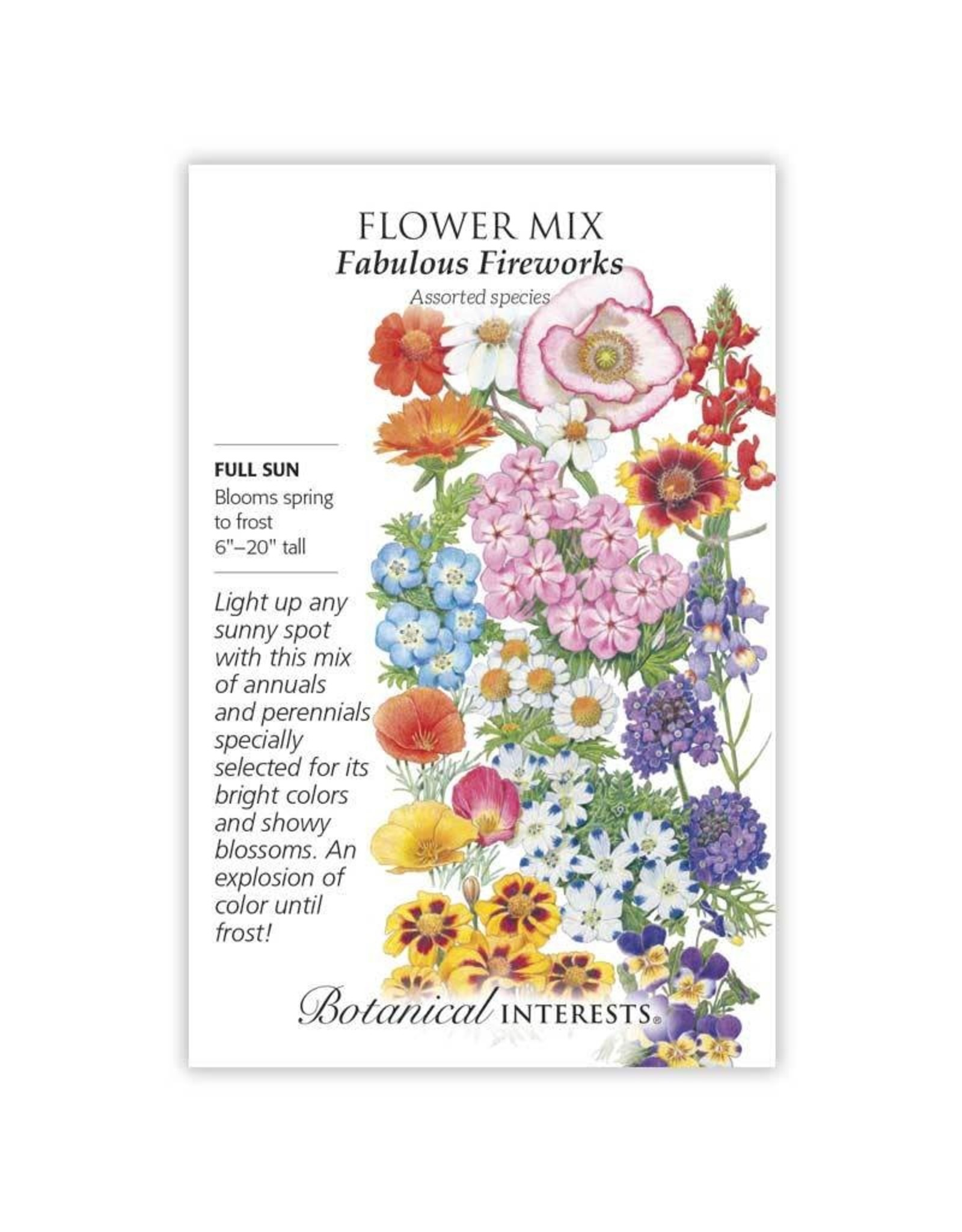 Seeds - Flower Mix Fabulous Fireworks, Large
