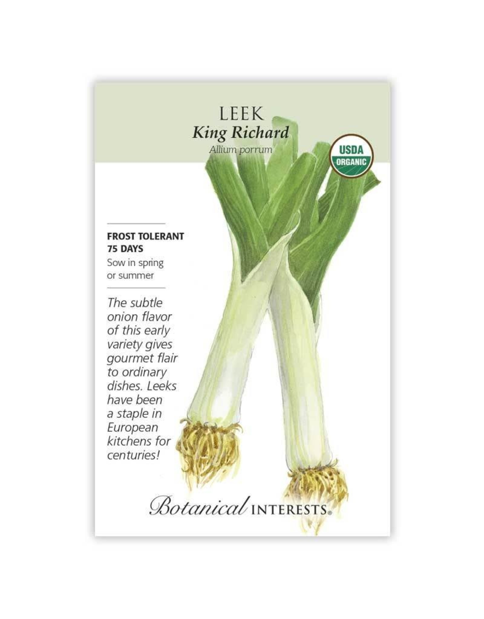 Seeds - Leek King Richard Organic