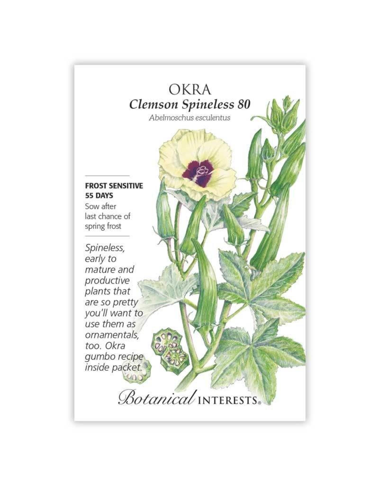 Seeds - Okra Clemson Spineless 80