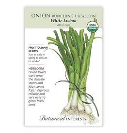 Seeds - Onion Bunching, Scallion, White Lisbon, Organic