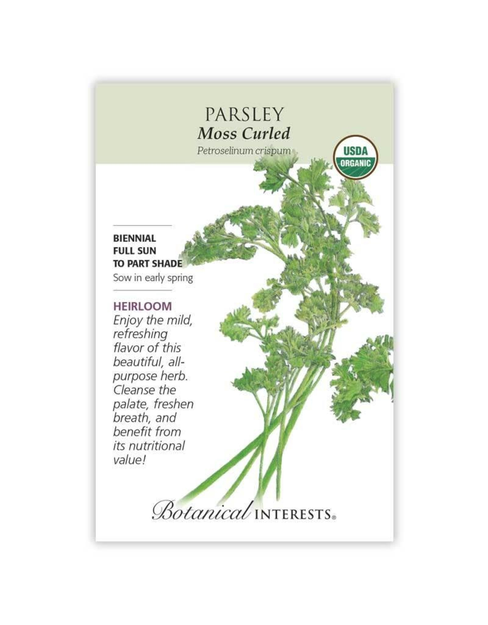 Seeds - Parsley Moss Curled Organic