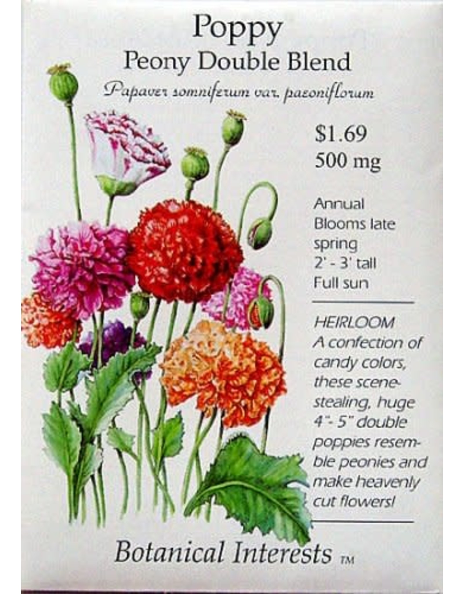 Seeds - Poppy Peony Double Blend