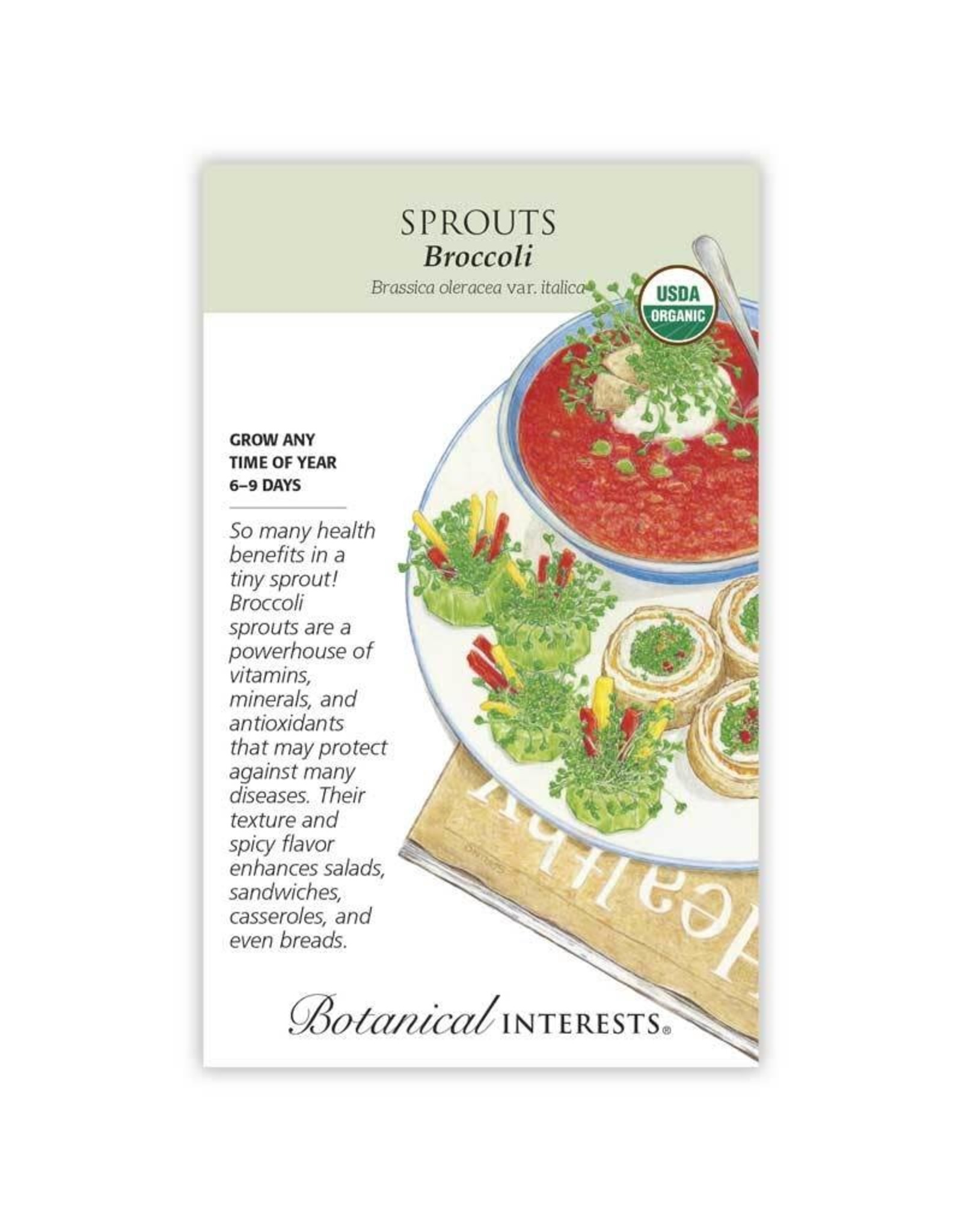 Seeds - Sprouts Broccoli Organic, Large