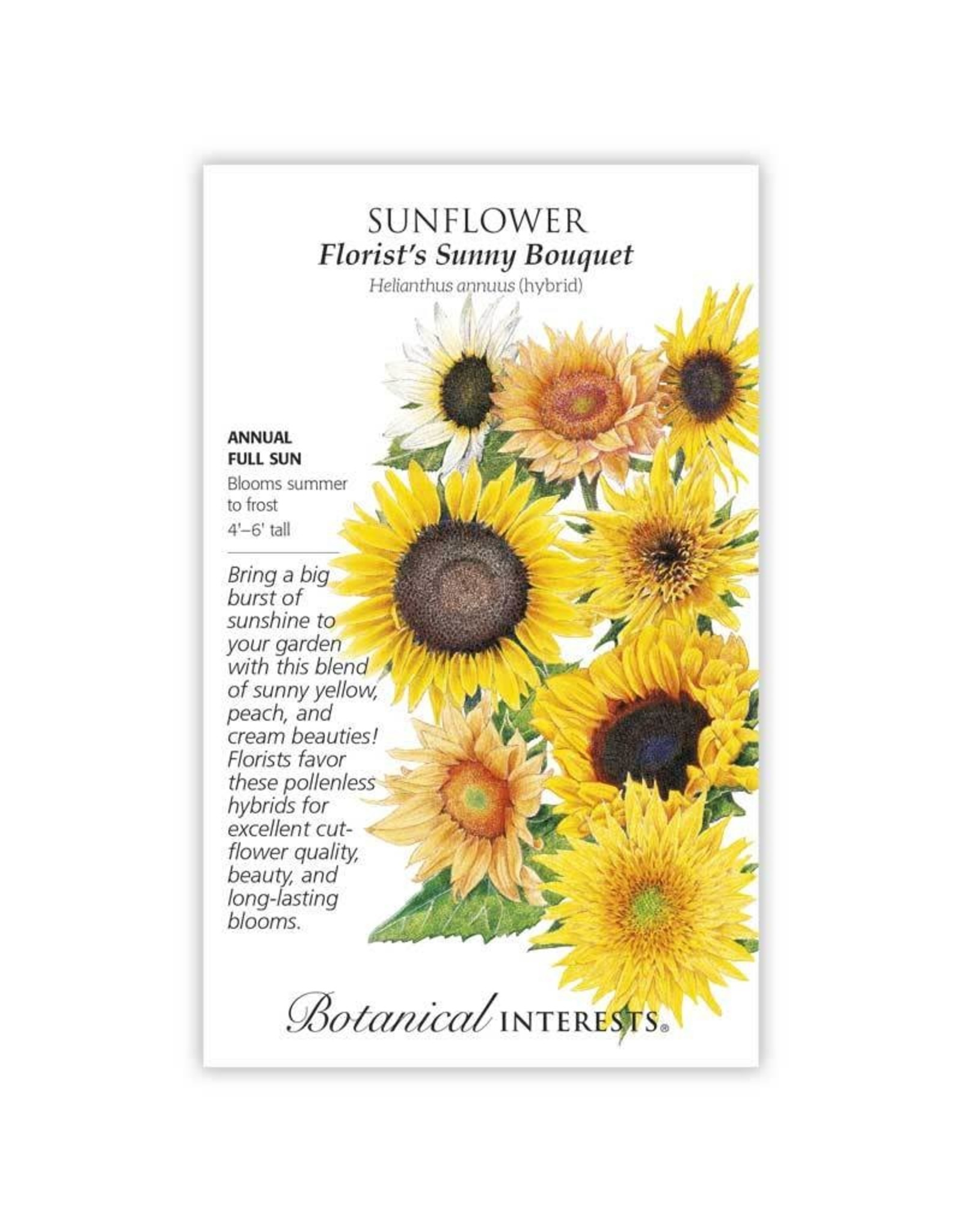 Seeds - Sunflower Florist's Bouquet Hybrid, Large