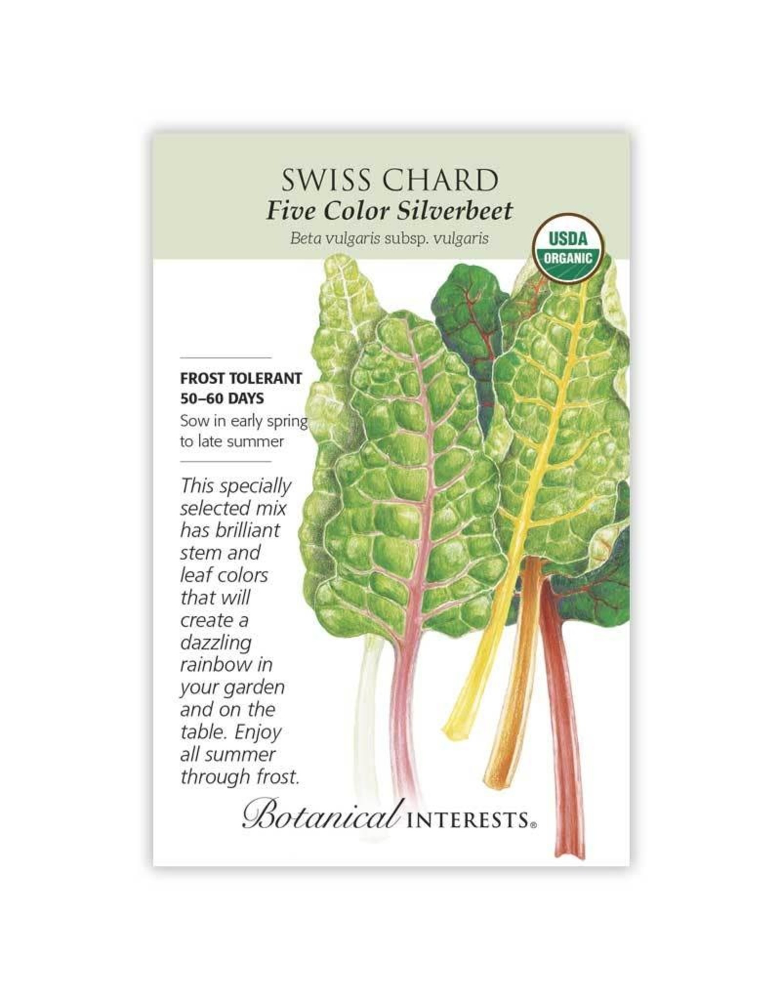 Seeds - Swiss Chard Five Color Org