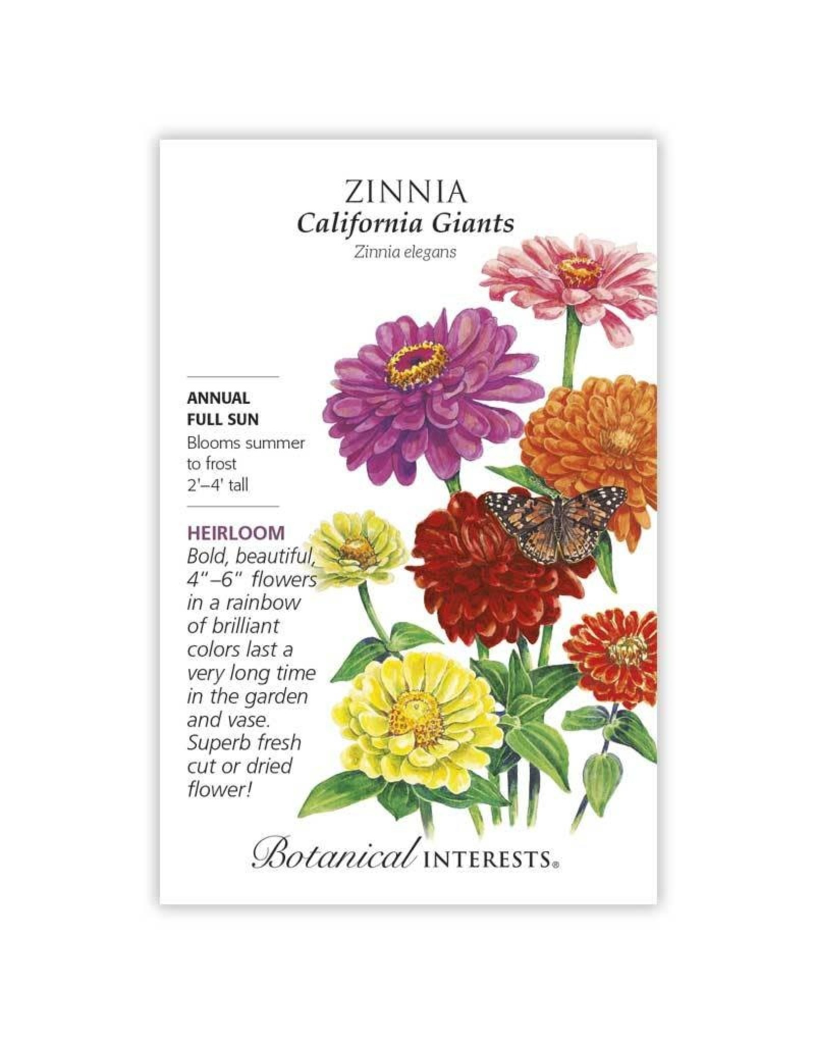 Seeds - Zinnia California Giants