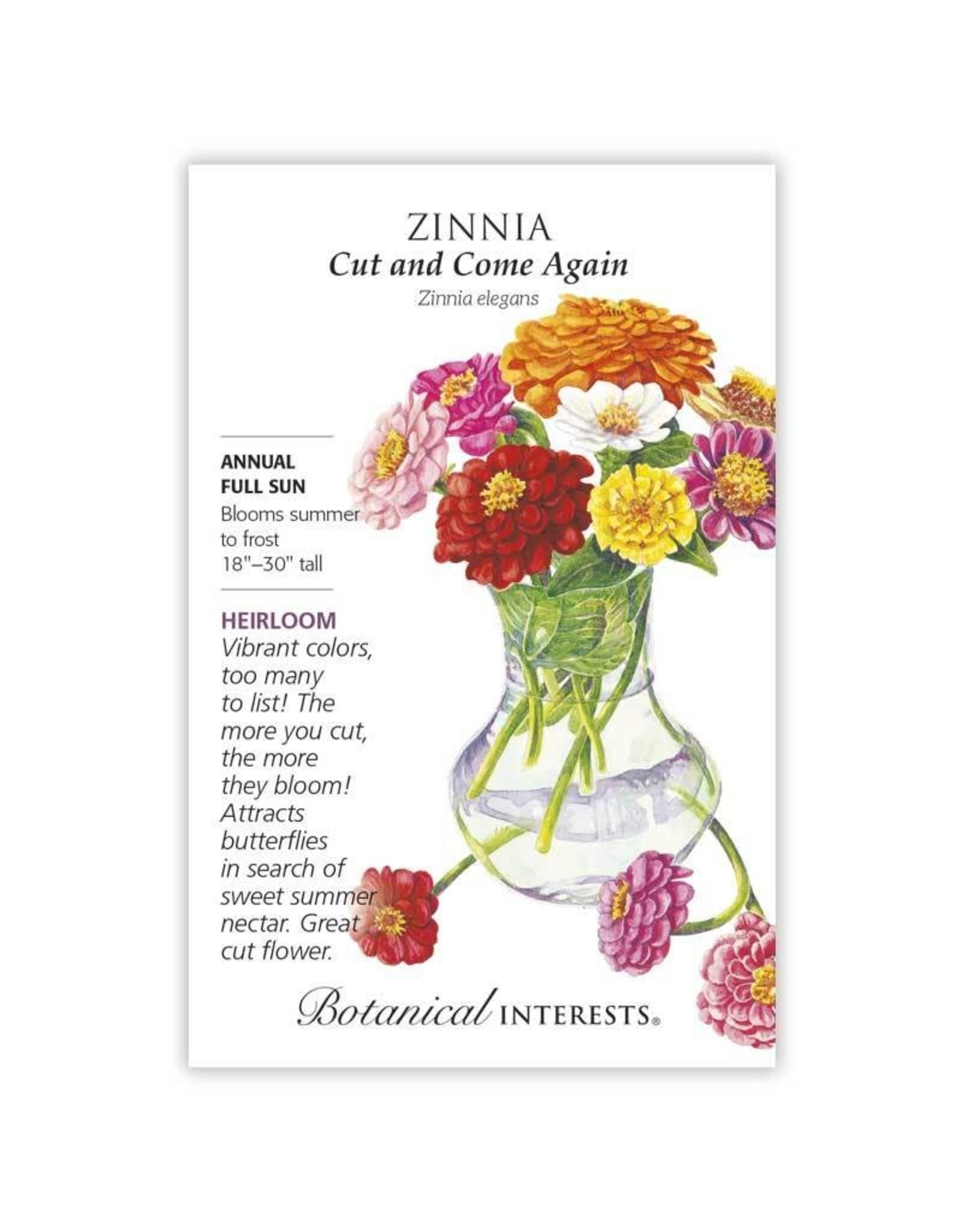Seeds - Zinnia Cut and Come Again