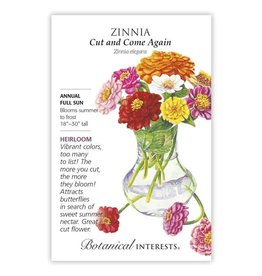 Seeds - Zinnia Cut and Come Again, Large