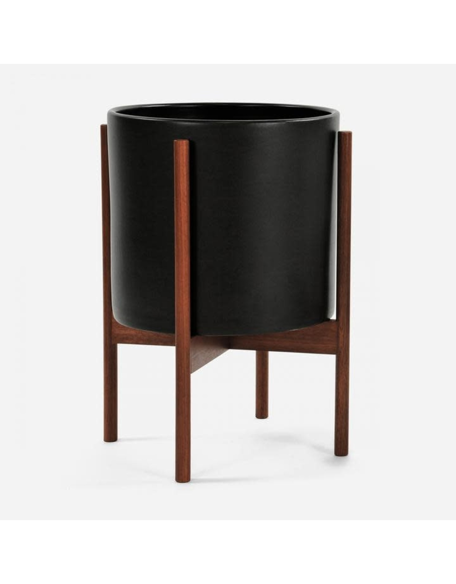 Modernica Charcoal Cylinder with Wood Stand