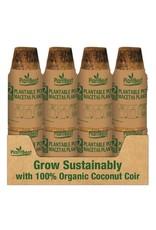 """2.5"""" Biodegradable Coconut Coir Pot - 12 Pack"""
