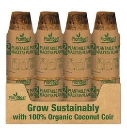 "2.5"" Biodegradable Coconut Coir Pot - 12 Pack"
