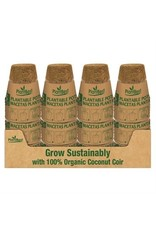 """3"""" Biodegradable Coconut Coir Pot - 8 Pack"""