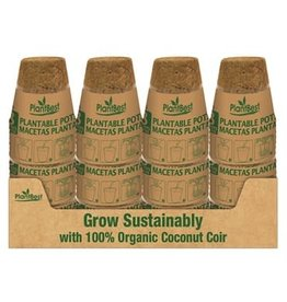 "3"" Biodegradable Coconut Coir Pot - 8 Pack"