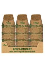 """4.25"""" Biodegradable Coconut Coir Pot - 6 Pack"""