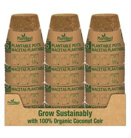 "4.25"" Biodegradable Coconut Coir Pot - 6 Pack"