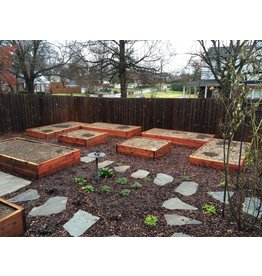 Cedar Raised Bed & Soil with Installation - 4x4