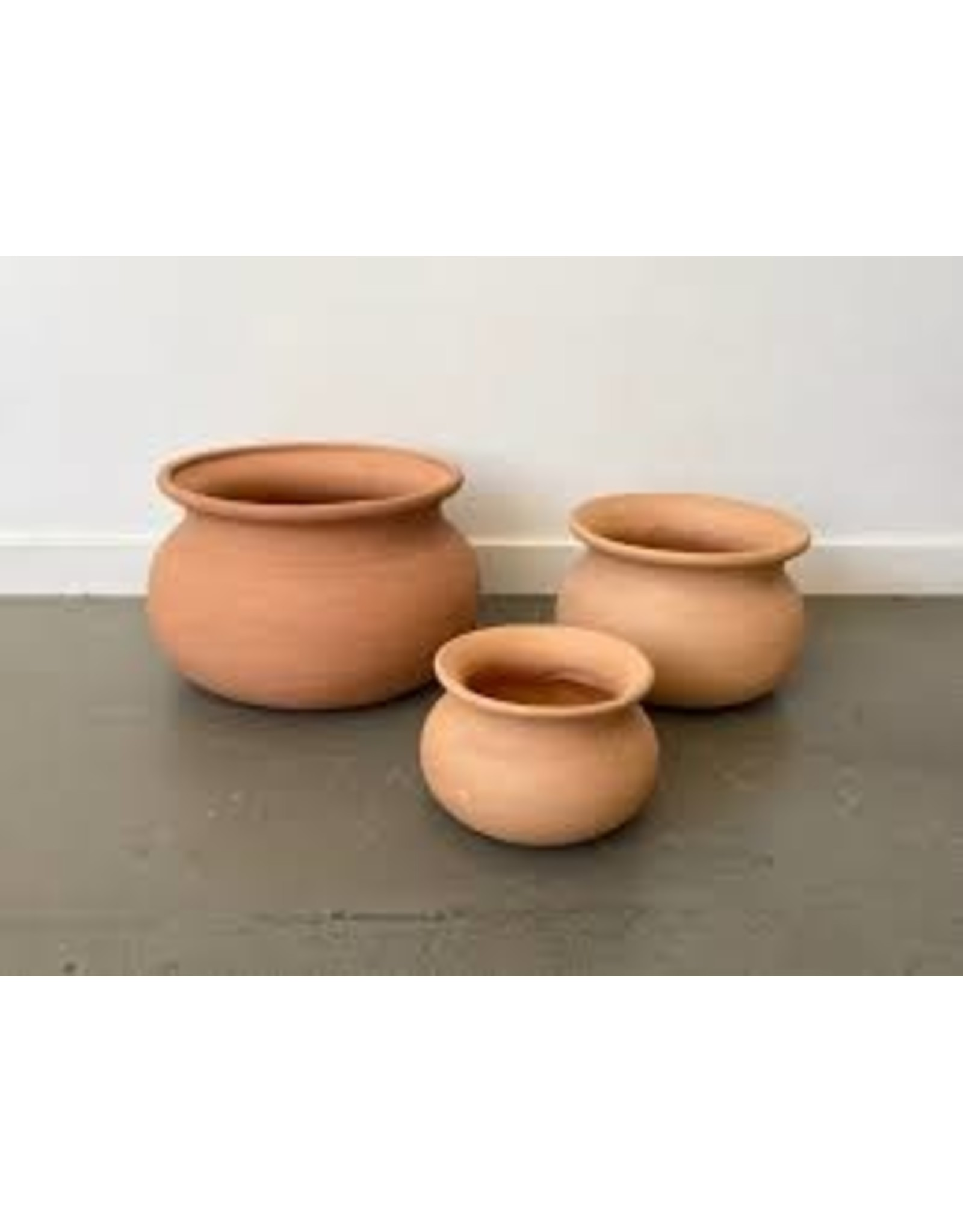 Pottery MFG Terra Cotta Wash Pot - Red Clay 10""