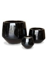 Undercut Egg Pot - Gloss Black M