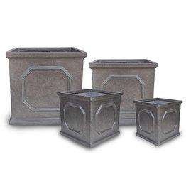 English Abbey Square Pot- Metallic- L