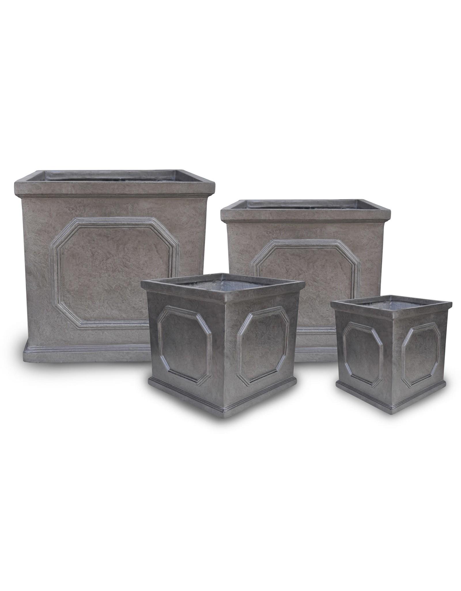 English Abbey Square Pot- Metallic- M