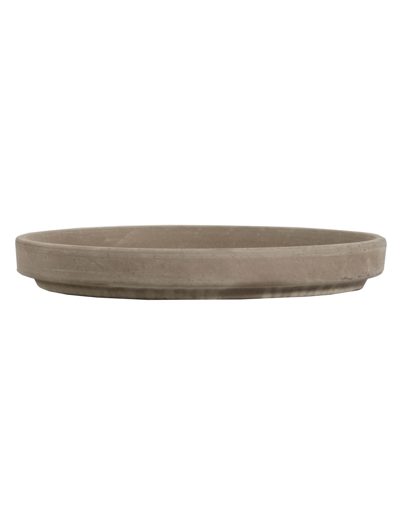 Terra Cotta Saucer - Gray Clay